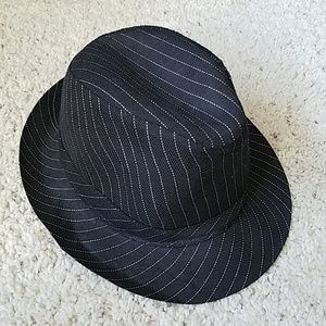 NWOT Pinstripe black fedora hat